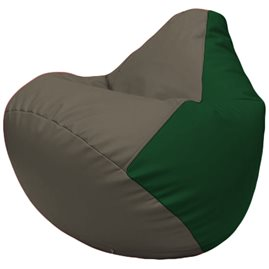 Кресло-мешок Груша Г2.3-1701 серый, зелёный