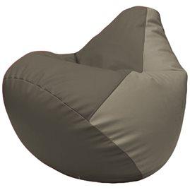 Кресло-мешок Груша Г2.3-1702 серый, светло-серый