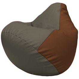 Кресло-мешок Груша Г2.3-1707 серый, коричневый