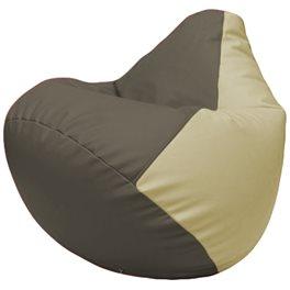 Кресло-мешок Груша Г2.3-1710 серый, светло-бежевый