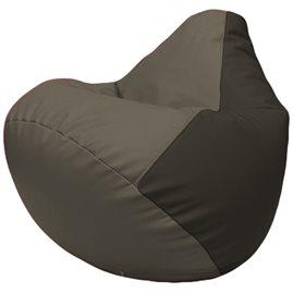 Кресло-мешок Груша Г2.3-1716 серый, чёрный