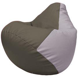 Кресло-мешок Груша Г2.3-1725 серый, сиреневый