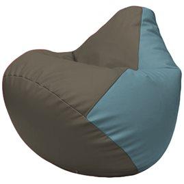 Кресло-мешок Груша Г2.3-1736 серый, голубой