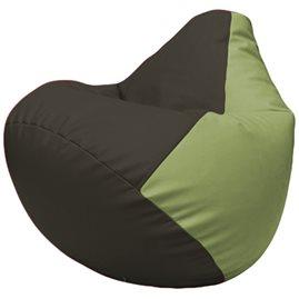 Кресло-мешок Груша Г2.3-1917 чёрный, оливковый