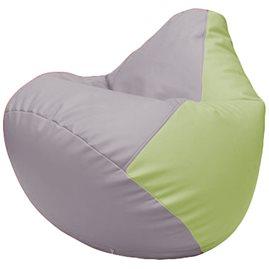 Кресло-мешок Груша Г2.3-2504 сиреневый, светло-салатовый