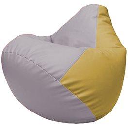 Кресло-мешок Груша Г2.3-2508 сиреневый, охра