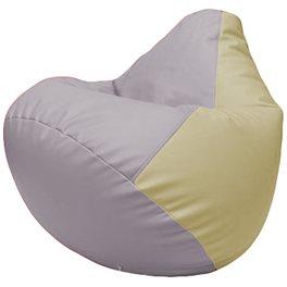 Кресло-мешок Груша Г2.3-2510 сиреневый, светло-бежевый