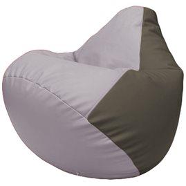 Кресло-мешок Груша Г2.3-2517 сиреневый, серый