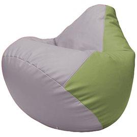 Кресло-мешок Груша Г2.3-2519 сиреневый, оливковый