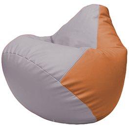 Кресло-мешок Груша Г2.3-2520 сиреневый, оранжевый