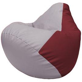 Кресло-мешок Груша Г2.3-2521 сиреневый, бордовый