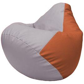 Кресло-мешок Груша Г2.3-2523 сиреневый, оранжевый