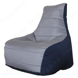 Бескаркасное кресло-мешок Бумеранг (серый, тёмно-синий)