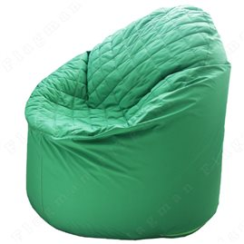 Бескаркасное кресло-мешок Bravo зелёное (+ синтепон)