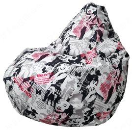 Бескаркасное кресло-мешок Груша Lady
