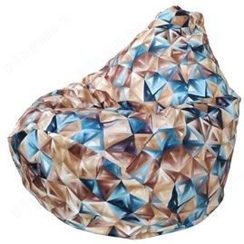 Бескаркасное кресло-мешок Груша Глэсс 01 Г2.5-78