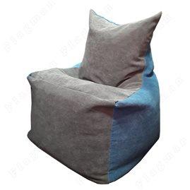 Бескаркасное кресло-мешок Фокс серо - голубой