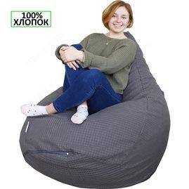 Бескаркасное кресло-мешок Груша мега серая