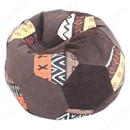 Бескаркасное кресло-мешок Мяч Шоко-Африка