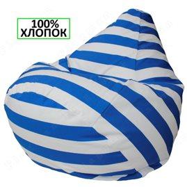 Кресло-мешок Груша Синий полосатик