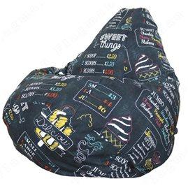 Бескаркасное кресло-мешок Груша Айскрим