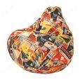 Бескаркасное кресло-мешок Груша Галактика