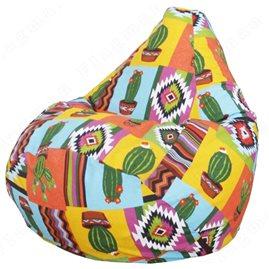 Бескаркасное кресло-мешок Груша Кактус