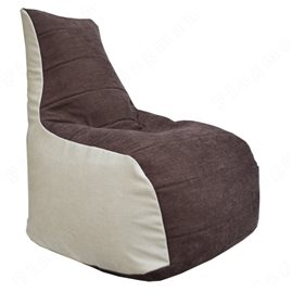 Бескаркасное кресло-мешок Бумеранг Б1.4-01 (бежевый, коричневый)