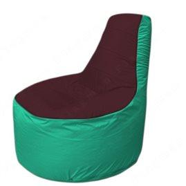 Живое кресло-мешокТрон Т1.1-0112(бордовый-бирюзовый)