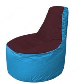 Живое кресло-мешокТрон Т1.1-0113(бордовый-голубой)