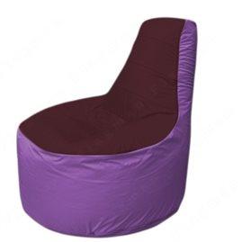 Живое кресло-мешокТрон Т1.1-0117(бордовый-сиреневый)