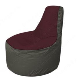 Живое кресло-мешокТрон Т1.1-0123(бордовый-тем.серый)