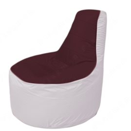 Живое кресло-мешокТрон Т1.1-0125(бордовый-белый)