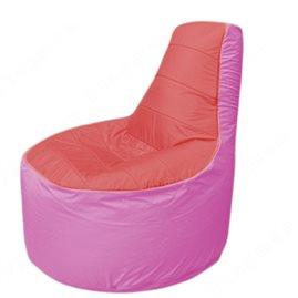 Живое кресло-мешокТрон Т1.1-0203(красный-розовый)