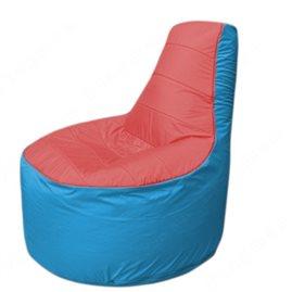 Живое кресло-мешокТрон Т1.1-0213(красный-голубой)