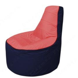 Живое кресло-мешокТрон Т1.1-0216(красный-тем.синий)