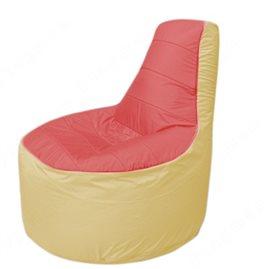 Живое кресло-мешокТрон Т1.1-0220(красный-бежевый)