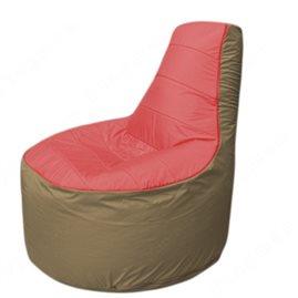 Живое кресло-мешокТрон Т1.1-0221(красный-тем.бежевый)