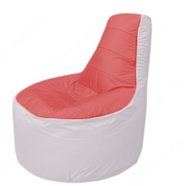 Живое кресло-мешокТрон Т1.1-0225(красный-белый)