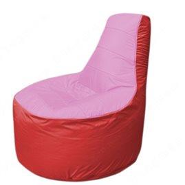 Живое кресло-мешокТрон Т1.1-0302(розовый-красный)