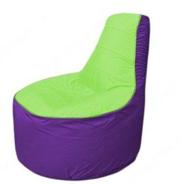 Живое кресло-мешокТрон Т1.1-0718(салатовый-фиолетовый)