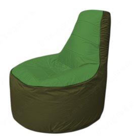 Живое кресло-мешокТрон Т1.1-0811(зеленый-тем.оливковый)