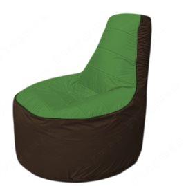 Живое кресло-мешокТрон Т1.1-0819(зеленый-коричневый)