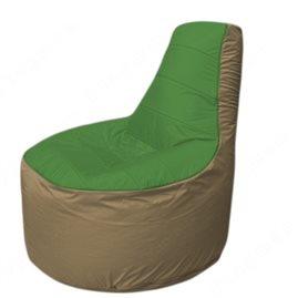 Живое кресло-мешокТрон Т1.1-0821(зеленый-тем.бежевый)