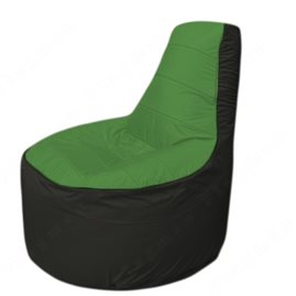 Живое кресло-мешокТрон Т1.1-0824(зелёный-черный)