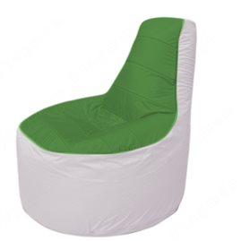 Живое кресло-мешокТрон Т1.1-0825(зеленый-белый)