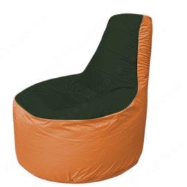 Живое кресло-мешокТрон Т1.1-0905(тем.зелёный-оранжевый)