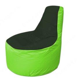 Живое кресло-мешокТрон Т1.1-0907(тем.зелёный-салатовый)