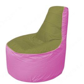 Живое кресло-мешокТрон Т1.1-1003(оливковый-розовый)