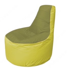 Живое кресло-мешокТрон Т1.1-1006(оливковый-желтый)